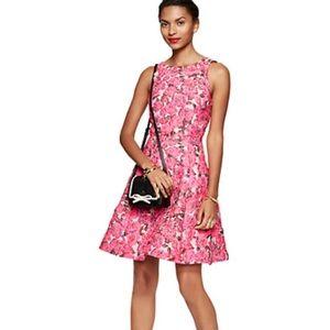 kate spade new york Rose Brocade Open Back Dress 6